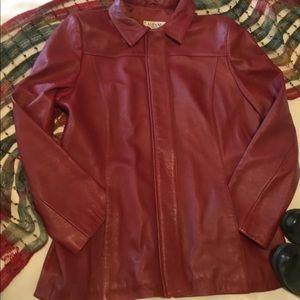 Alfani Red Leather Jacket - LIKE NEW